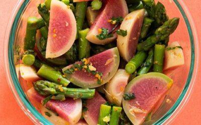My Summer Freshness Watermelon Radish and Asparagus Salad – An Ayurvedic Recipe